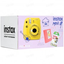 Подарочный набор Fujifilm Instax mini 9 Clear Yellow