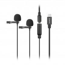 Boya BY-M2D Двойной петличный микрофон с переходником Lightning для устройств Apple