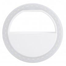 Fotokvant LED-8B RING White светодиодная селфи-лампа диаметр 80 мм на батарейках белый