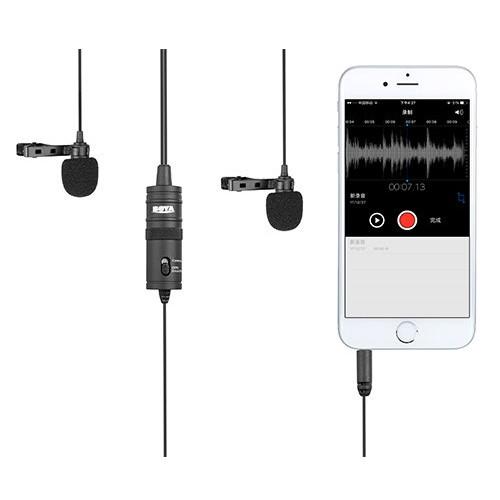 Boya BY-M1DM Двойной всенаправленный петличный микрофон