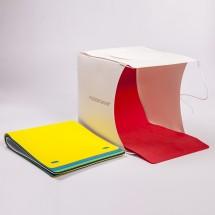 Fotokvant BOX-20LED фотобокс 22 см c 2xLED освещением и 6 фонами
