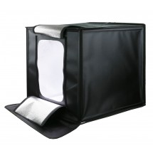 Световой бокс куб GRIFON LED 440 II ( LED панель, четыре фона, два диммера - регулятор мощности света и цветовой температуры ) размер 40см х 40см