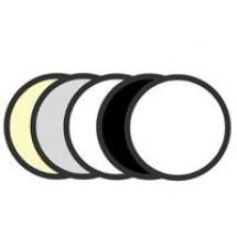 Отражатель GRIFON R5-110 5 в 1 (110см) просвет/чёрный/белый/золото/серебро