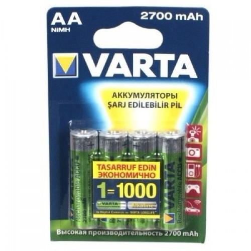 Аккумуляторы Varta AA 2700mAh 4шт.