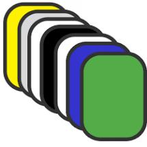 Отражатель GRIFON R7-1015 7 в 1 (100x150см) просвет/чёрный/белый/золото/серебро/синий/зелёный