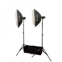 FUJIMI FJ SK2150SB Готовый набор для фотостудии 300 Дж (моноблок, софт-бокс, стойка, сумка)