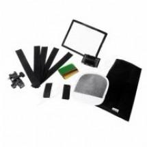 Комплект GRIFON SA-K6 для накамерных фотовспышек (софтбокс,рефлектор, соты, тубус, фильтры, переходник, липучки)