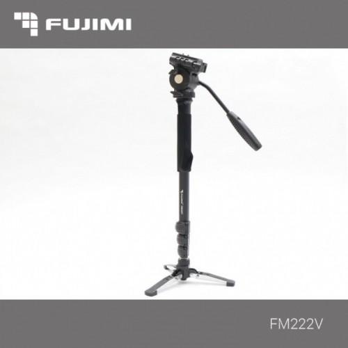 Fujimi FM222V Алюминиевый монопод с 3-х точечным упором(ногами) и головой для видеосъёмки